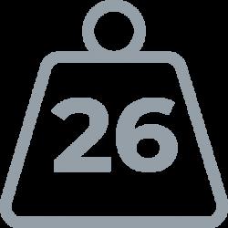 26 weight
