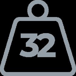32 weight